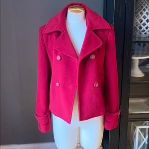 Red Peacoat from Express Design Studio